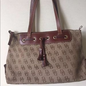 DOONEY BOURKE Bag Purse Signature DB Leather Tote